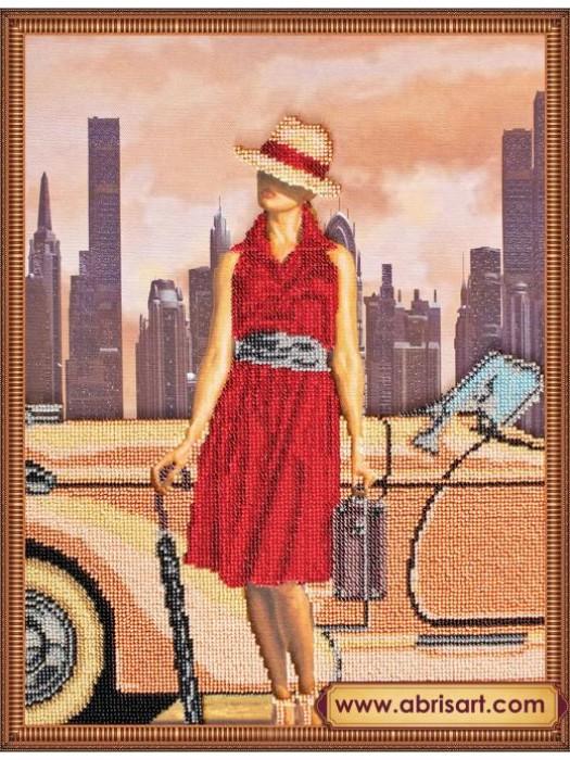 Набор для вышивки бисером на холсте Ретро-путешествия-3 АВ-178