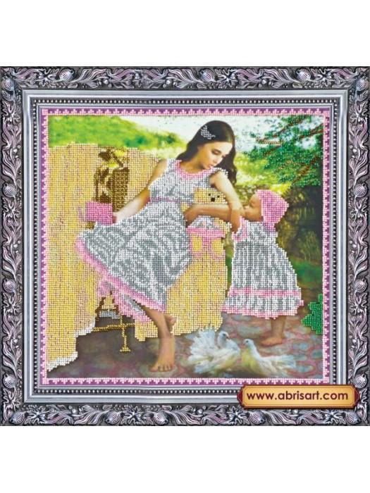 Набор для вышивки бисером на холсте Мамина любовь AB-170