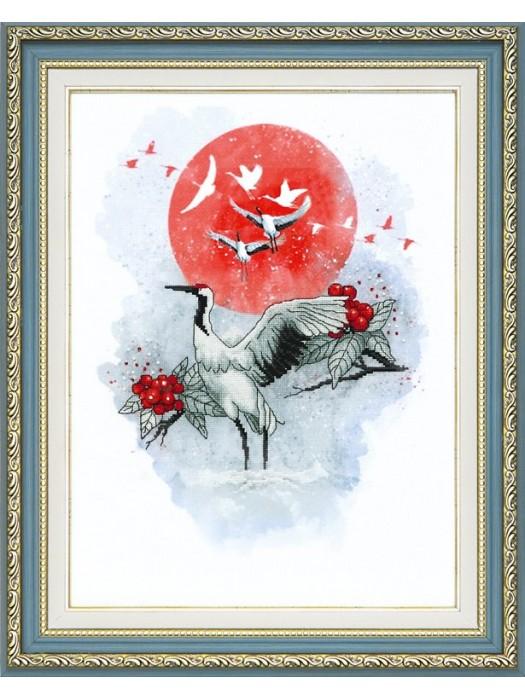"""Набор для частичной вышивки крестом Чарівна Мить РК-098 """"Журавлиная песня"""""""