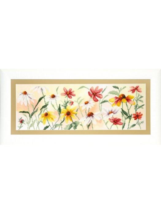 """набір для часткової вишивки хрестом РК-110 """"Барвисті квіти"""""""