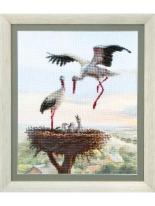 ВТ-504Crystal Art Аисты в гнезде