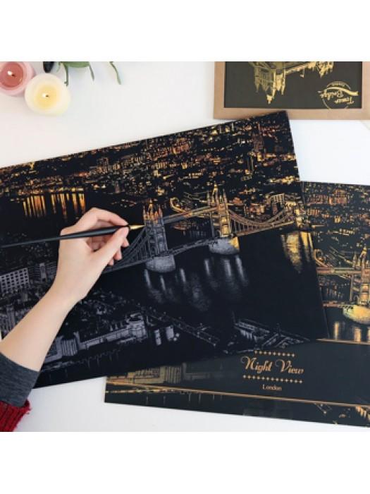 Лондон скретч-набор