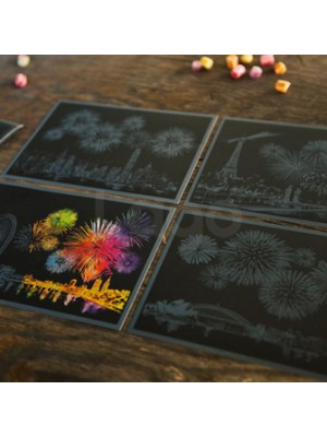 Фейерверк набор скретч-открыток