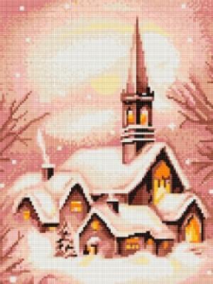 B401 Заснеженная церковь