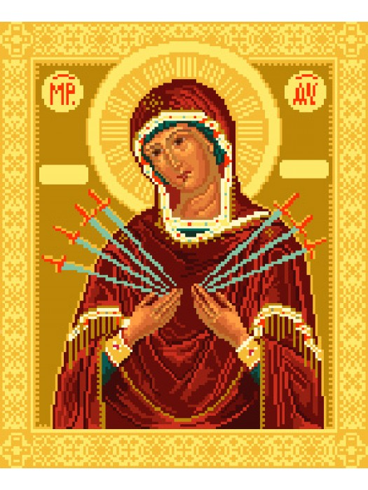 Икона Пресвятая Богородица «Семистрельная»