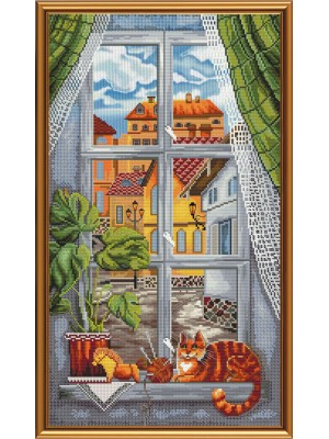 Котейка на окне ННД1091