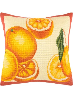 Подушка полукрестом Апельсины
