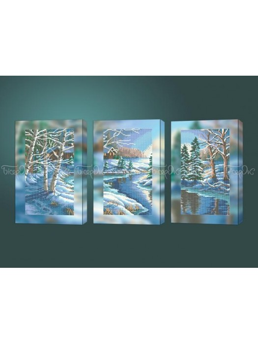 Зимний вечер триптих