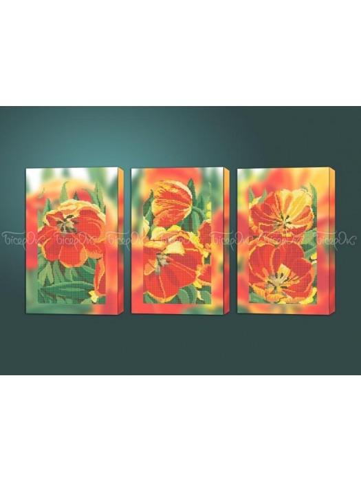 Яскраві тюльпани триптих