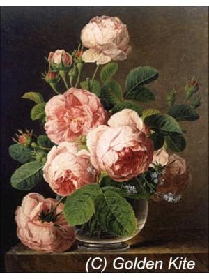 Троянди в скляній вазі 1105 Голден Кайт