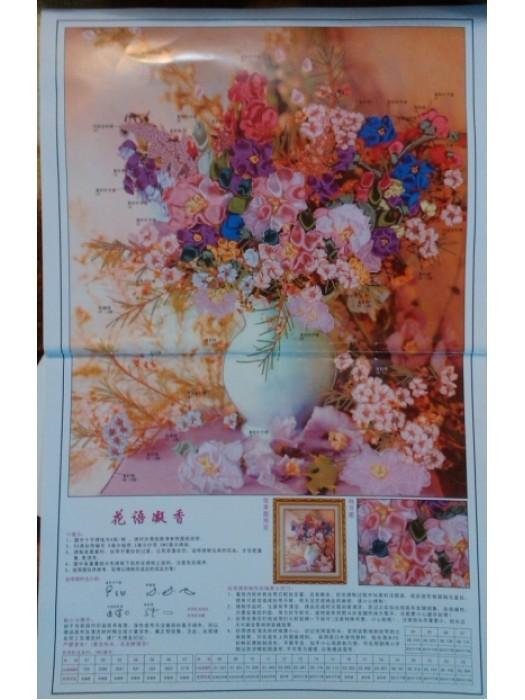 Набор для вышивки лентами Цветы в вазе