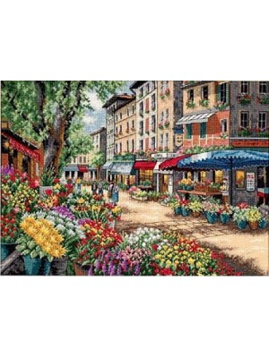Набор для вышивания Рынок в Париже