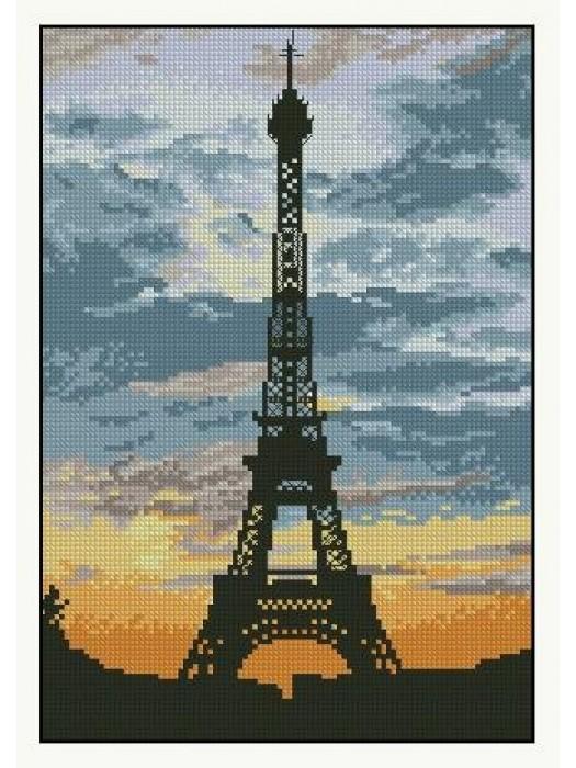 Набір для вишивання Захід сонця в Парижі