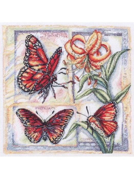 Набор для вышивания Бабочки и лилия