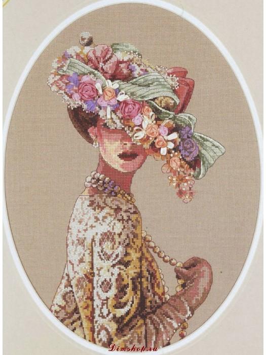 Набор для вышивания  Дама в шляпе