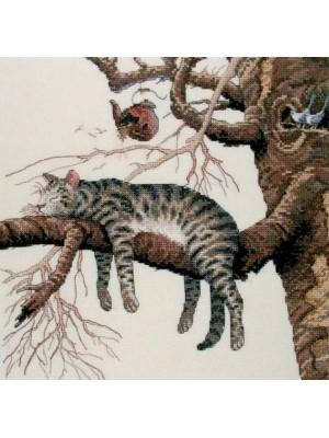 Набор для вышивания Ленивый кот