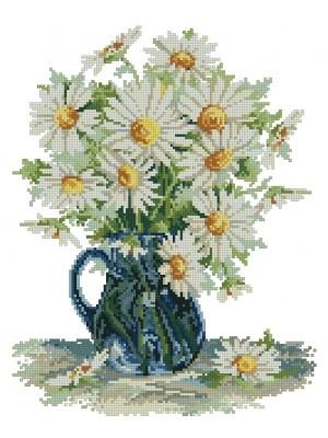 Набор для вышивания Садовые ромашки